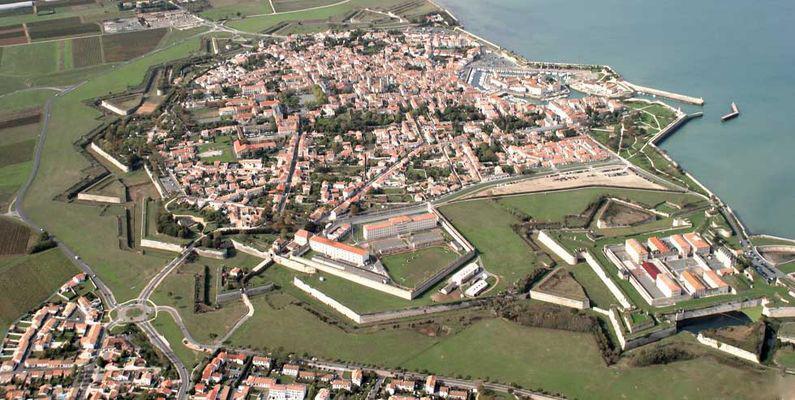 Citadelle de Saint-Martin-de-Ré Charente-Maritime vue aérienne