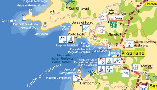Pour le thème ville village : Propriano en Corse du Sud
