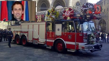 Galerie photos : Un dernier hommage au pompier Thierry Godfrind de Montréal