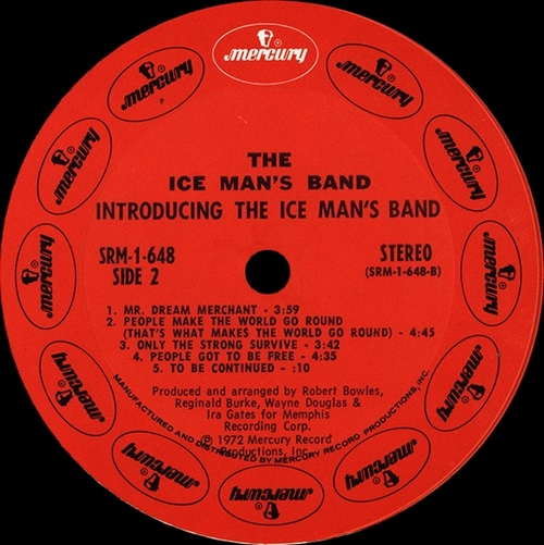 "The Ice Man's Band : Album "" Introducing The Ice Man's Band "" Mercury Records SRM-1-648 [ US ]"