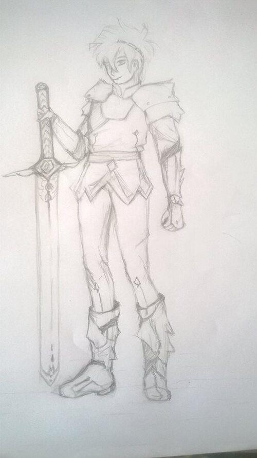 nouveau dessin : chevalier