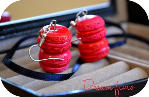 Boucle d'oreilles Macarons