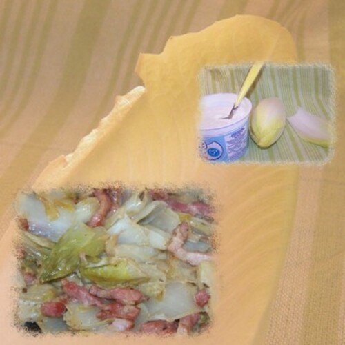 Endives à la crème et lardons