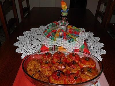 Tomates et aubergines farçies
