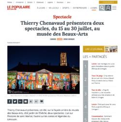 Préparation du nouveau spectacle de l'été à Limoges....premier article....