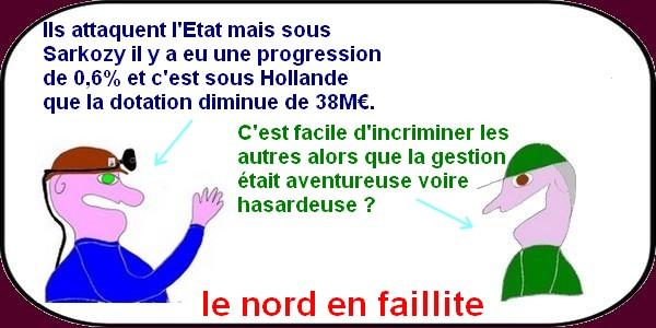 """""""Faillite , dictature, incendie"""" ça chauffe dans les """"Hauts de France""""?"""