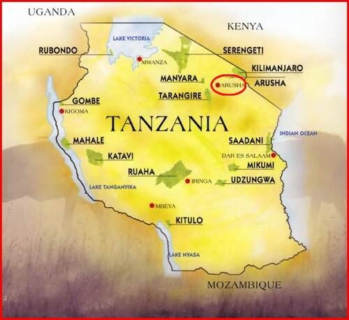 Carte de Tanzanie
