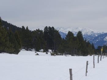 Le massif du Canigou (le sommet tout à gauche)