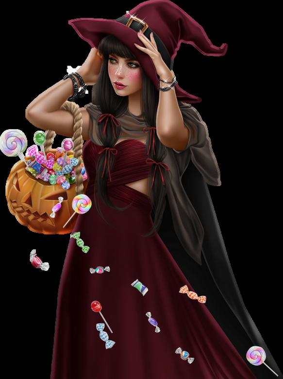 Tubes Femmes Halloween