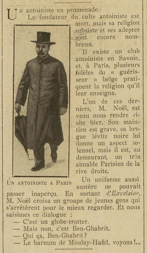 Un antoiniste en promenade (Excelsior, 29 août 1912)