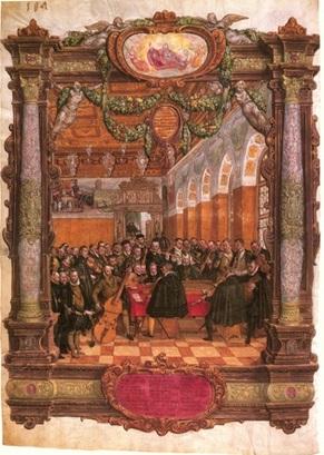 Orlando de Lassus ,  ensemble instrumental,   Hans Mielich