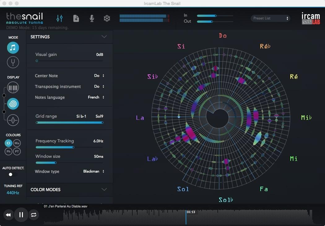 Logiciel d'analyse du son d'un fichier audio