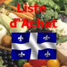 logo liste achat aliments québec