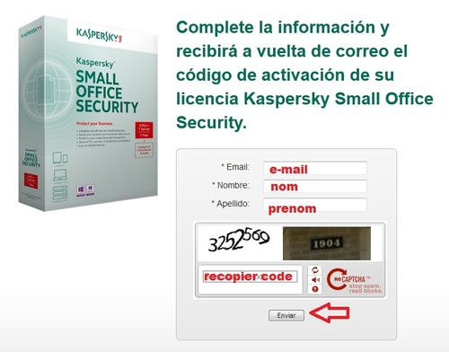Kaspersky Small Office Security 3 - Licence 3 mois gratuits
