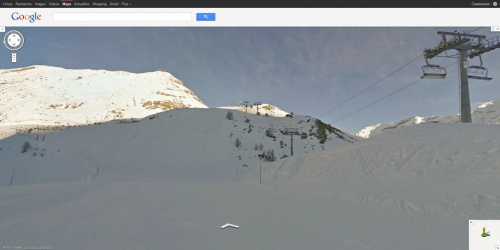 Google Street View Neige