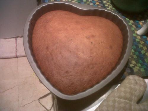 Gâteau compote et chocolat