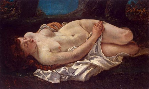 Gustave Courbet - Reclining Woman - femme couchée