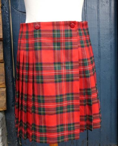 Jupe kiltée en tartan à vendre / Kilted skirt for sale
