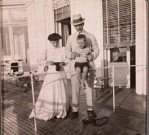 Mathilde, Grand Duke Andre and her son Vladimir. Although, Mathilde claimed Andre was the father of her son. It's difficult to say for certain for she was involved with both Grand Duke Andre and Grand Duke Sergei M. for years. Both Grand Duke's claimed paternity.: