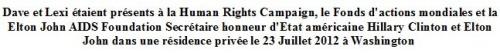 dave au gala Human Rights Campaign le 23 juillet 2012