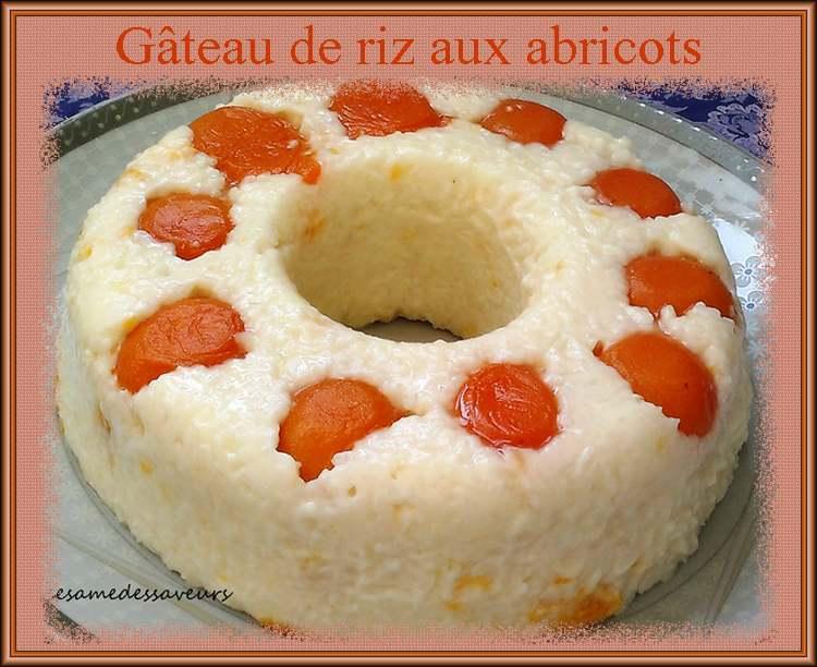 Gâteau de riz aux abricots