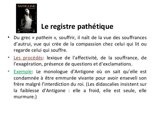 pathétique définition français