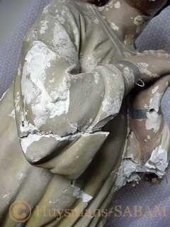 Restauration d'oeuvre d'art: état initial - Arts et sculpture: sculpteur mouleur