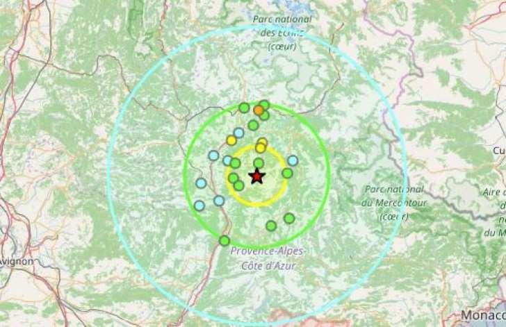CHANTOUVIVELAVIE : Un séisme ressenti dans les Alpes-de-Haute-Provence