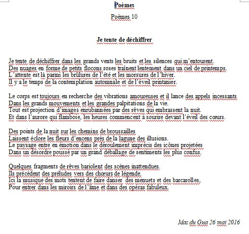 Poèmes*10*