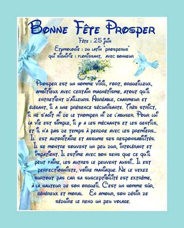 Carte Bonne Fête Prosper - 25 juin - Balades comtoises