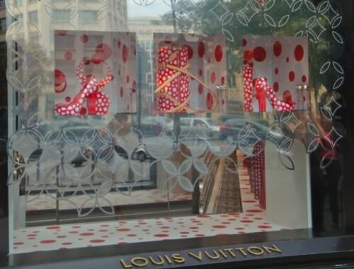 vitrines Kusama Vuitton Champs-Elysées 1