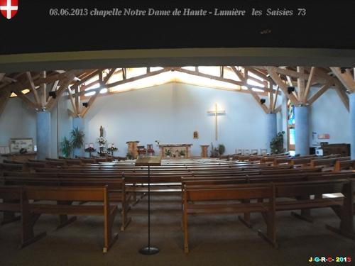 VACANCES:  2013  PRAZ SUR ARLY  74  LES SAISIES  la chapelle  2/2  03/10/2013