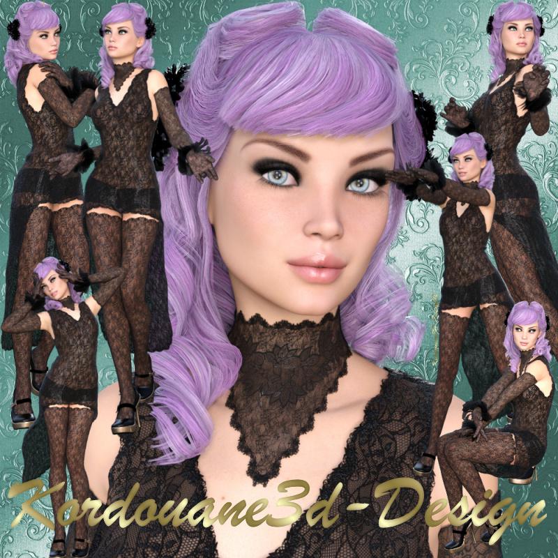 Alexandra : Femme gothique (tube-poser-render)