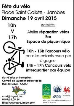 La fête du vélo le 19 avril