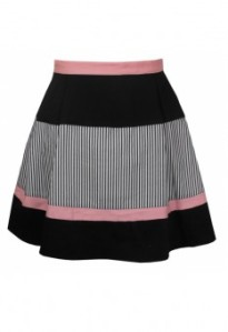 Annie Greenabelle tNavy Peach Stripe Colour Block Skirt