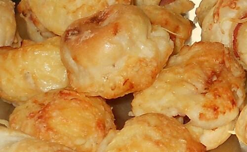 Mini-crêpes soufflées aux lardons