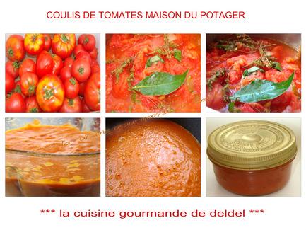 COULIS DE TOMATES DU POTAGER