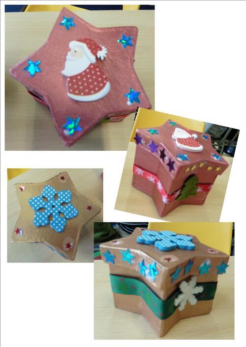 Boîte étoile Noël