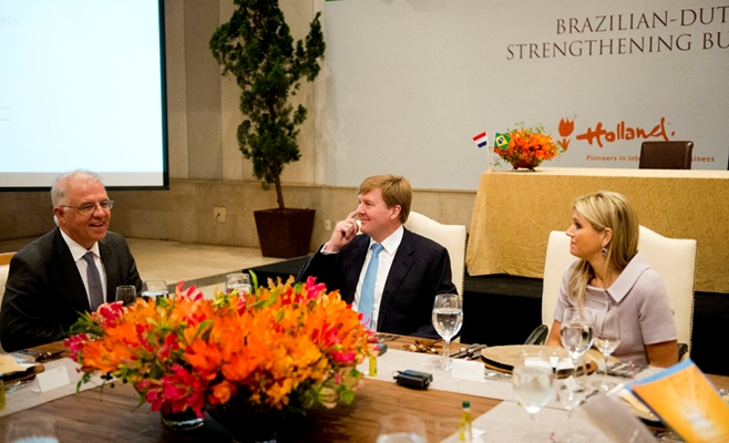 Maxima et Willem Alexander au Brésil