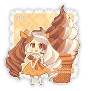 Des filles manga Chibi avec des gateaux !