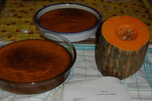 Gâteau Millas Potiron