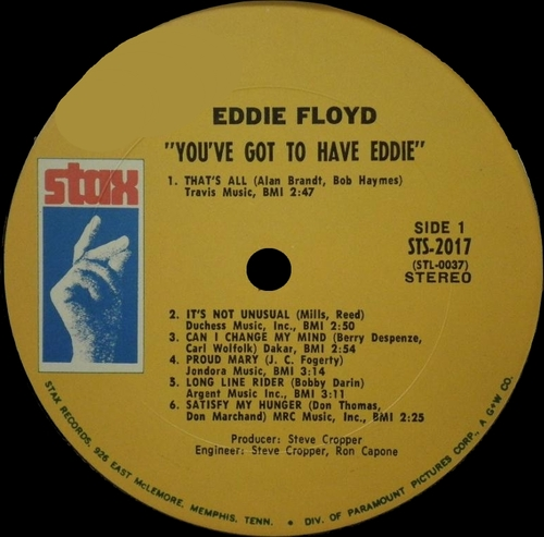 "Eddie Floyd : Album "" You've Got To Have Eddie "" Stax Records STS 2017 [ US ]"