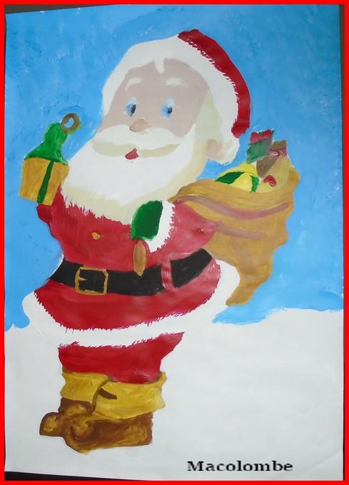 Peinture le père Noël