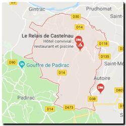 Situation locale de Loubressac