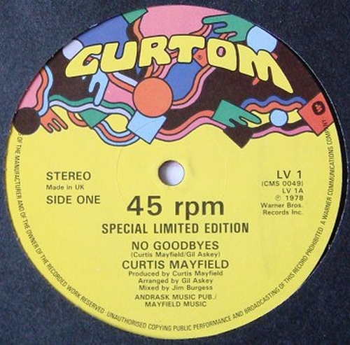 1978 : Single SP 7 Inch et Maxi 12 Inch Curtom Records LV 1 [ UK ]