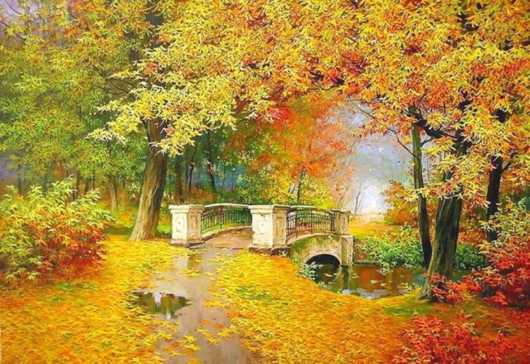 Misted paysages d'automne