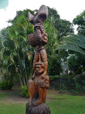 Sculpture du parc de La Foa