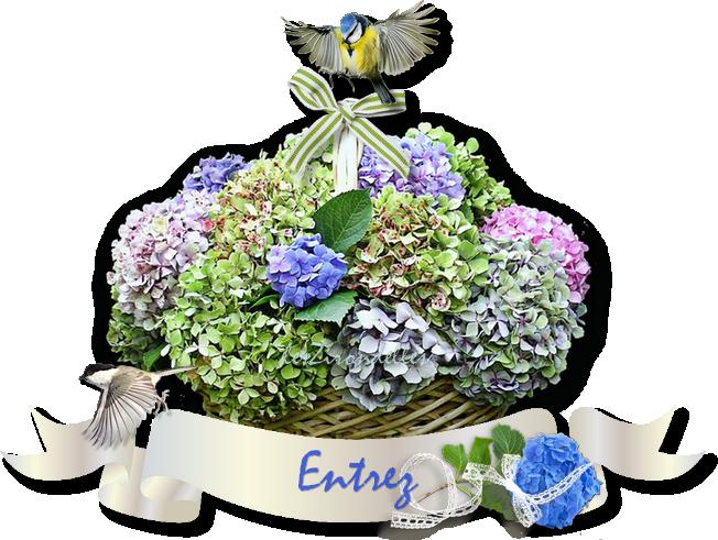 """Décos thème  """"les hortensias"""""""