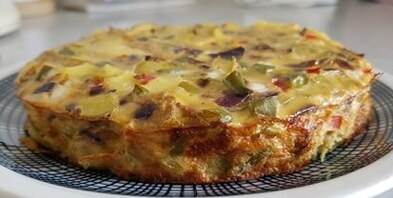 FRITTATA de patates, légumes & fromage