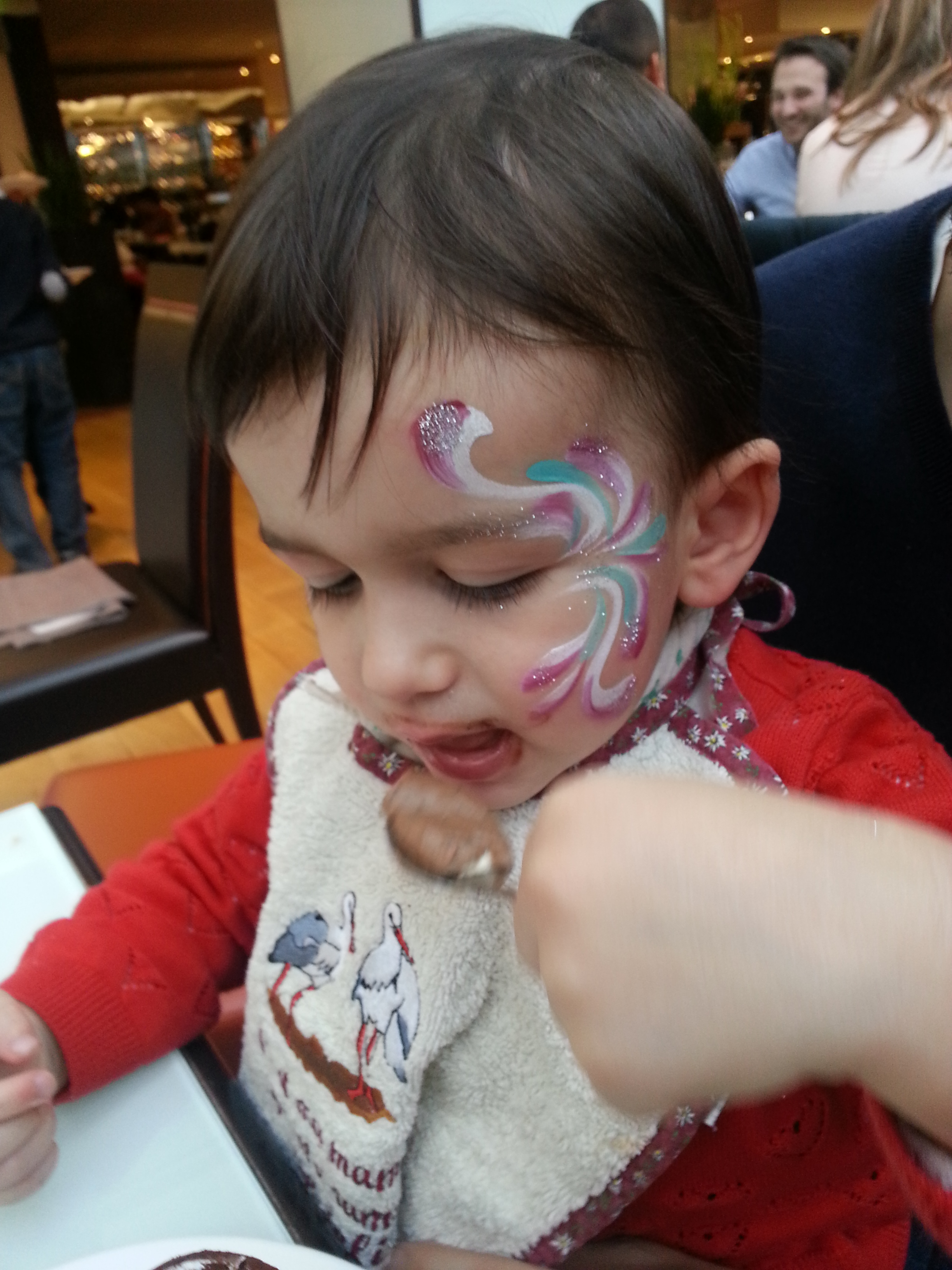 Maquillage au baby brunch